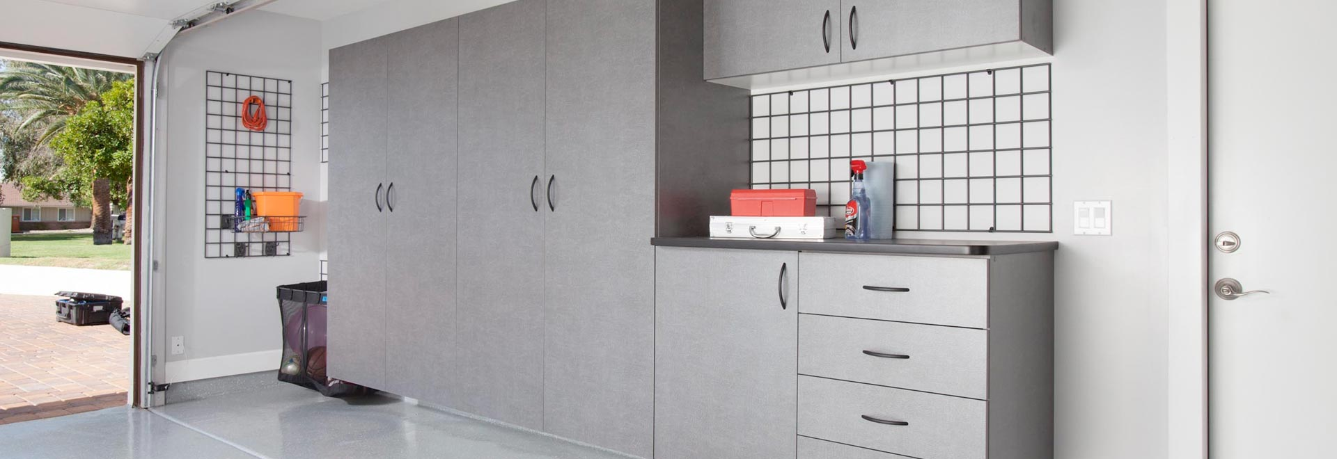 Metallic Garage Cabinets