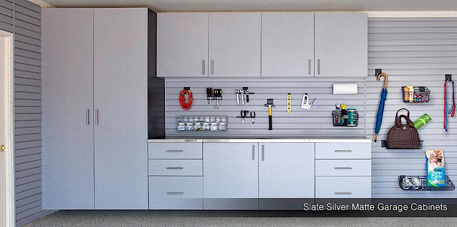 Superieur ... Garage Cabinets In Slate Silver Matte Garage Cabinets In White ...