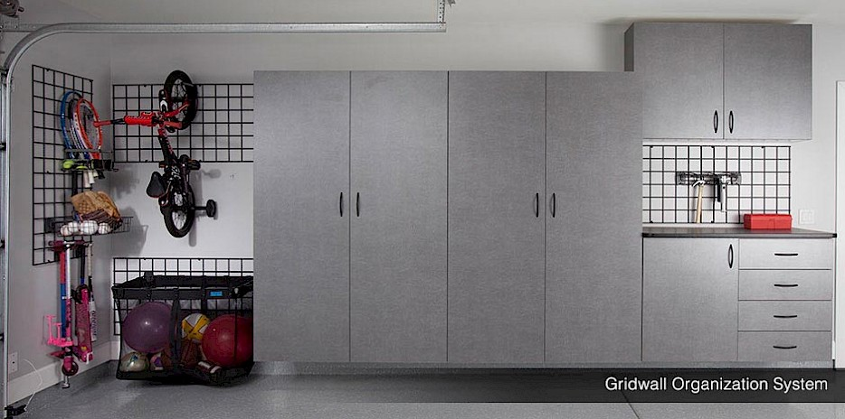 Gridwall Garage Organizers with accessories